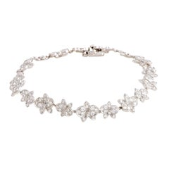 Cartier Caresse d'Orchidees Diamond White Gold Bracelet