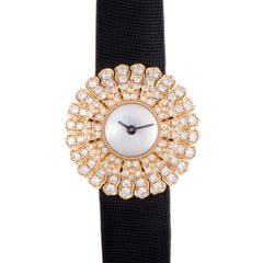 Buccellati Ladies Rose Gold Diamond Anthochron Zinnia Quartz Wristwatch