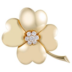 Van Cleef & Arpels Large Cosmos Diamond Yellow Gold Brooch