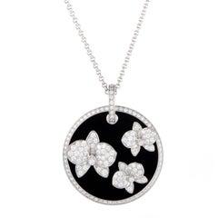 Cartier Caresse d'orchidées Diamond and Onyx Pendant Necklace