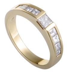 Tiffany & Co. Invisible Set Diamond Yellow Gold Band Ring