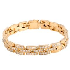 Cartier Maillon Panthere Diamond Yellow Gold Link Bracelet