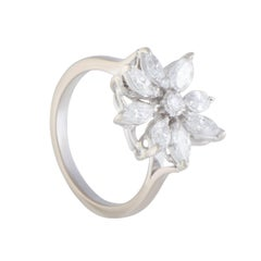 Asprey Diamond Flower Gold Ring