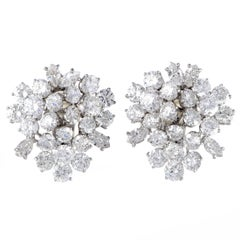 Damiani Diamond Platinum Clip-On Earrings