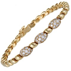 Van Cleef & Arpels Diamond Pave Yellow Gold Bracelet