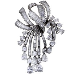 Diamond Pave Platinum Pendant or Brooch