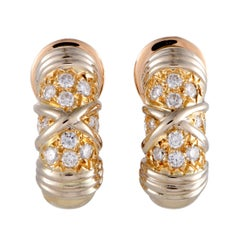 Van Cleef & Arpels Diamond and Gold Clip-On Earrings