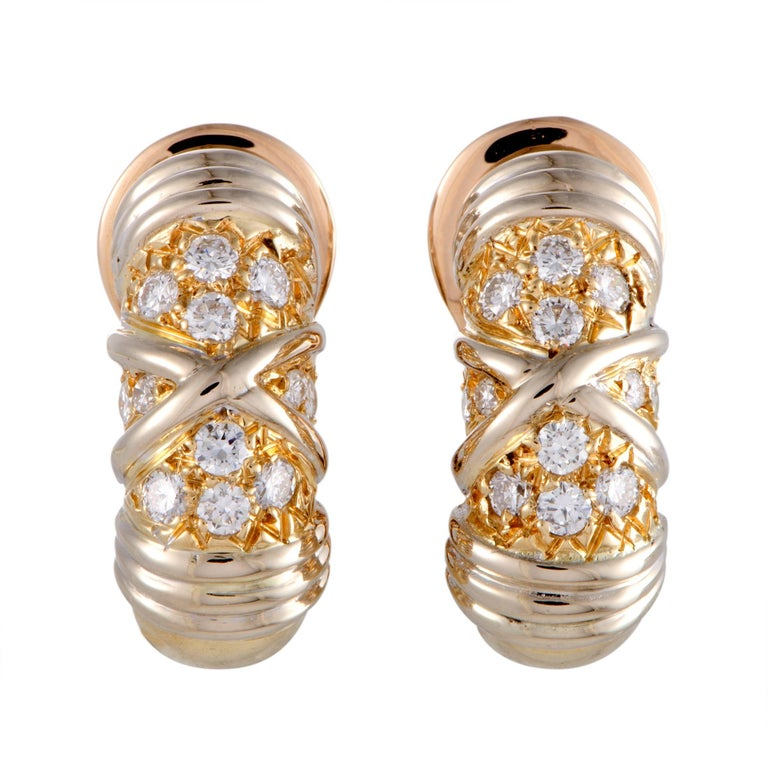 Van Cleef & Arpels Diamond and Gold Clip-On Earrings