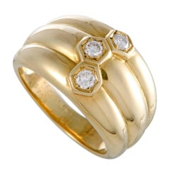 Van Cleef & Arpels Diamond and Gold Band Ring