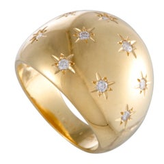 Van Cleef & Arpels Diamond Studded Gold Band Ring