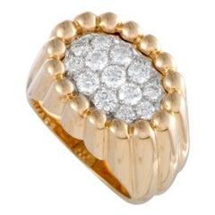 Van Cleef & Arpels Tartelette Diamond Pave Platinum and Gold Ring