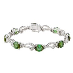H. Stern Green Tourmaline and Diamond Pave Gold Bracelet