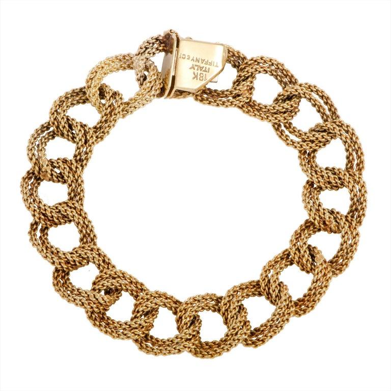 Tiffany & Co. Yellow Gold Large Link Bracelet