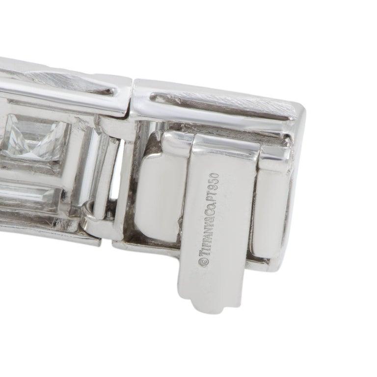 Tiffany & Co. Diamond Platinum Square Link Bracelet For Sale 1