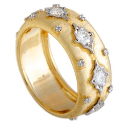 Buccellati Yellow Gold Diamond Band Ring