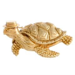 Tiffany & Co. Yellow Gold Sea Turtle Brooch