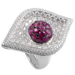 French Collection Ruby Gold Cocktail Ring
