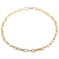 Roberto Coin Appassionata Multi-Gold Link Collar Necklace