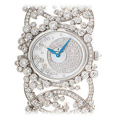 Audemars Piguet Ladies White Gold Diamond Millenary Manual Bangle Wristwatch