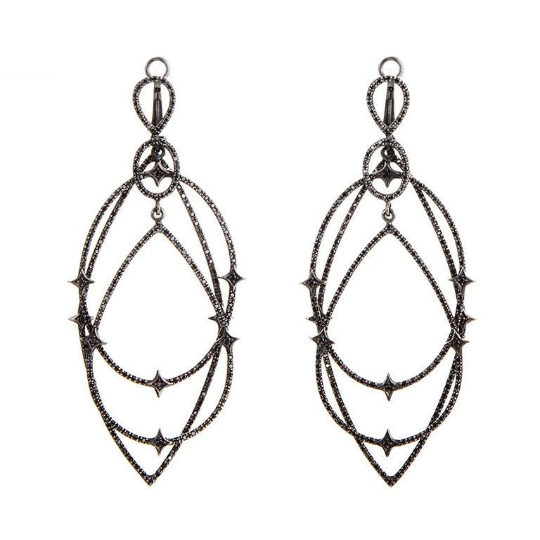 Loree Rodkin Black Diamond Gold Earrings For