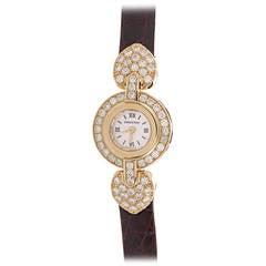 Audemars Piguet Lady's Rose Gold Diamond Quartz Wristwatch