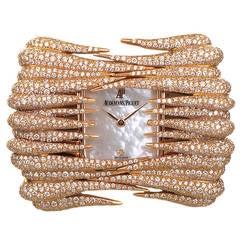 Audemars Piguet Lady's Rose Gold Diamond Set Givrine Wristwatch