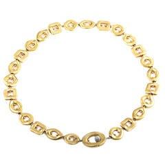 Pomellato Multi-Gold Diamond Choker Necklace