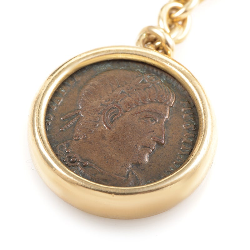 Bulgari monete gold ancient coin key ring at 1stdibs for Mercedes benz 18k gold ring