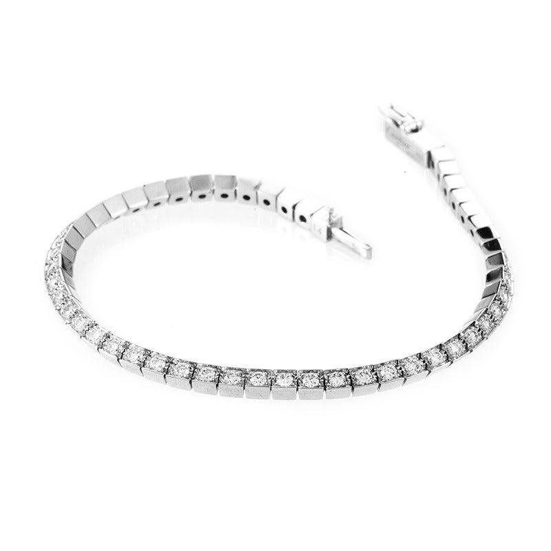 Cartier Laniere Diamond Gold Tennis Bracelet at 1stdibs