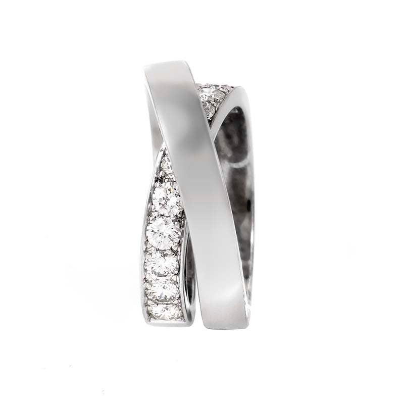 Etincelle Bands: Cartier Paris Nouvelle Vague Diamond Gold Ring At 1stdibs