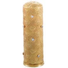 Boucheron Diamond Gold Lipstick Case