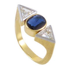 Grima Sapphire Diamond Gold Ring