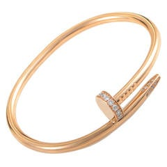 Cartier Juste un Clou Rose Gold Diamond Bracelet