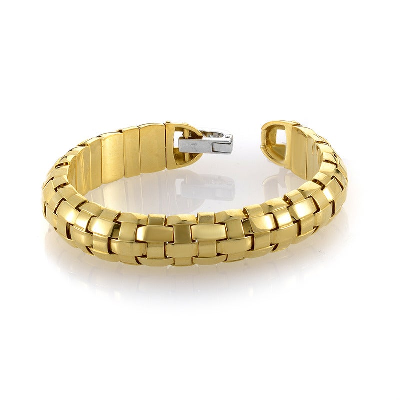 How To Basket Weave Bracelet : Pomellato diamond multi gold basket weave bracelet at stdibs