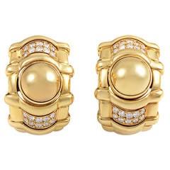 Piaget Diamond Gold Huggie Earrings