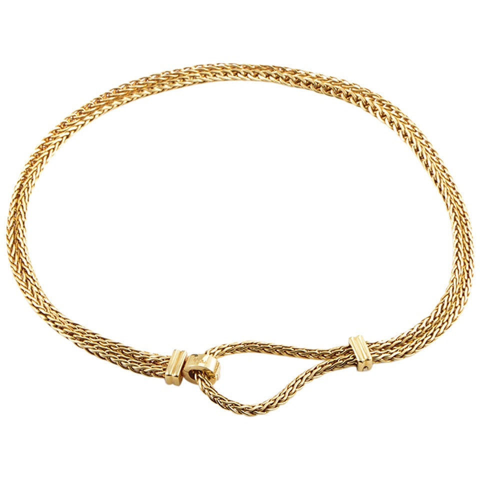 Pomellato Gold Clasp Necklace