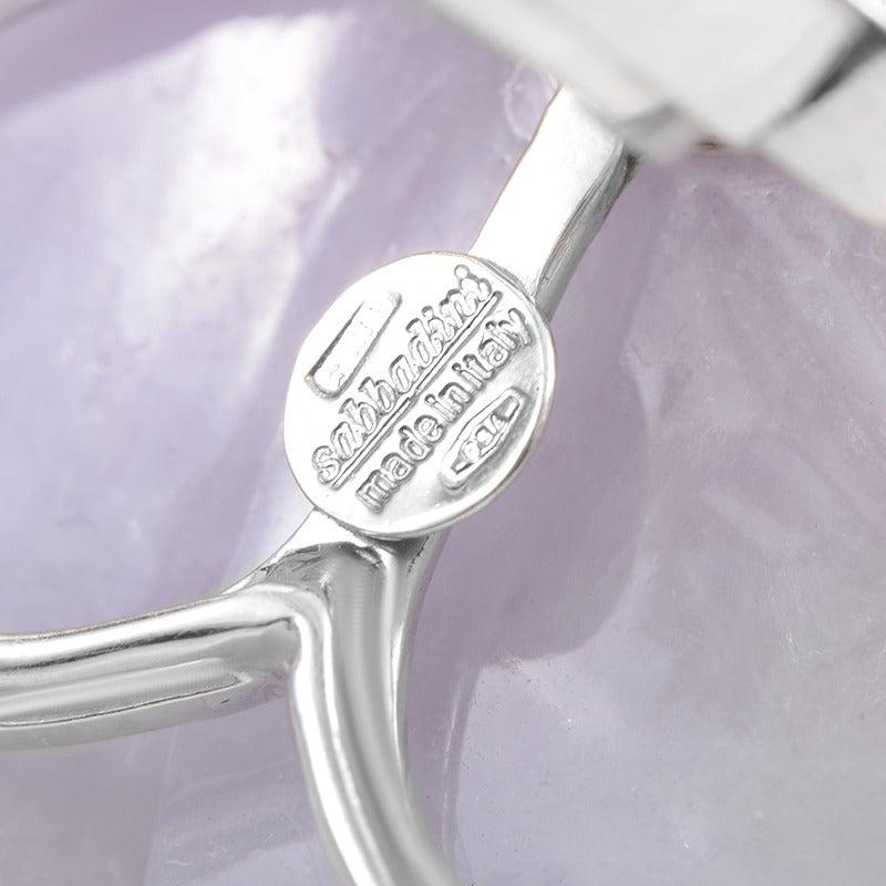 Sabbadini Gemstone Diamond Gold Flower Clip-On Earrings 3
