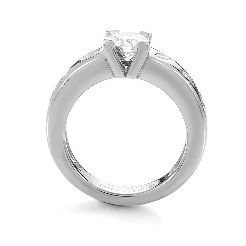 chanel platinum diamond engagement ring for sale at 1stdibs