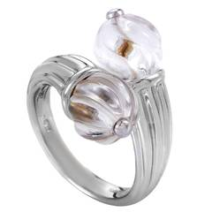 Boucheron Rock Crystal White Gold Ring