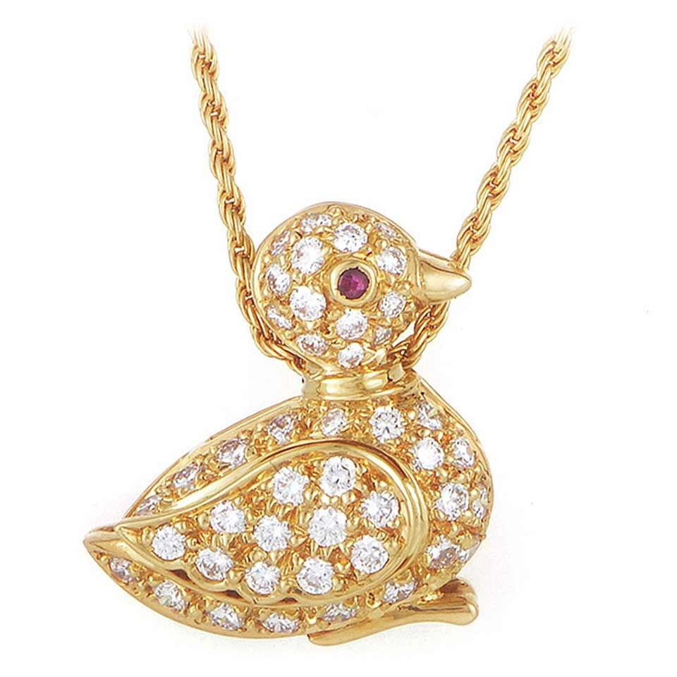 Graff ruby diamond gold bird pendant necklace at 1stdibs graff ruby diamond gold bird pendant necklace for sale mozeypictures Gallery