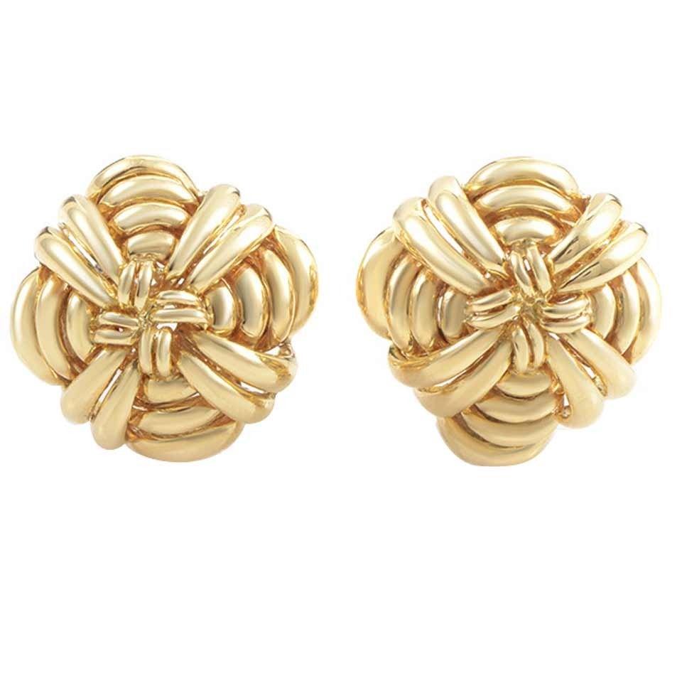 Tiffany & Co. Gold Clip-On Earrings 1