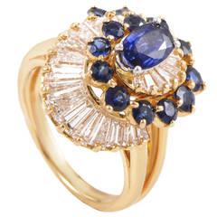 Oscar Heyman Sapphire Diamond Gold Platinum Ring