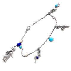 Van Cleef & Arpels Gemstone Gold Charm Bracelet