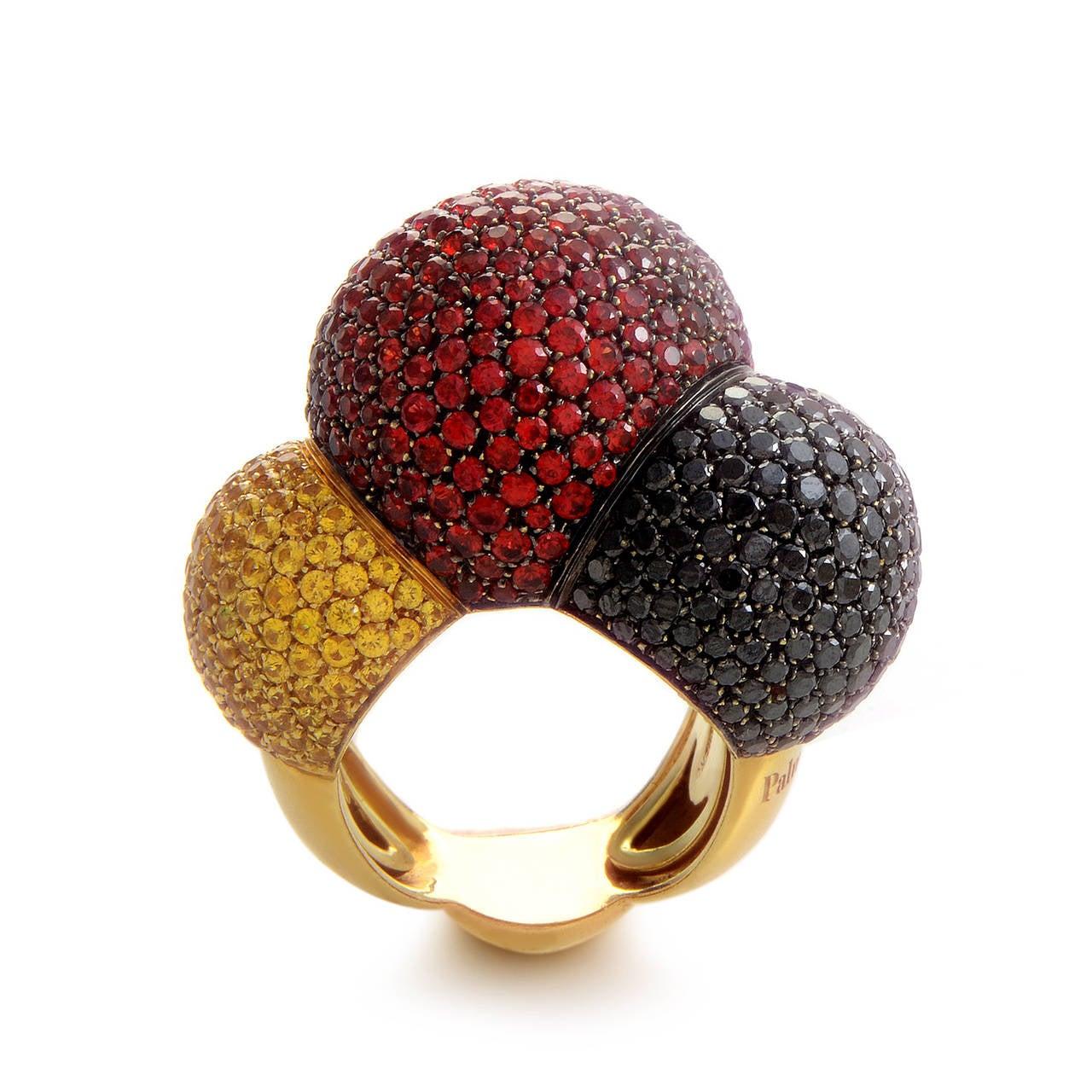 Palmiero Sapphire Diamond Gold Ring 2