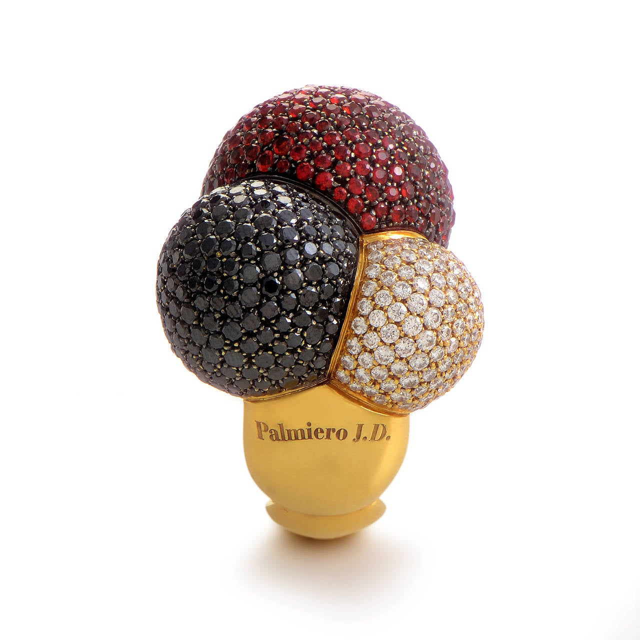 Palmiero Sapphire Diamond Gold Ring 3