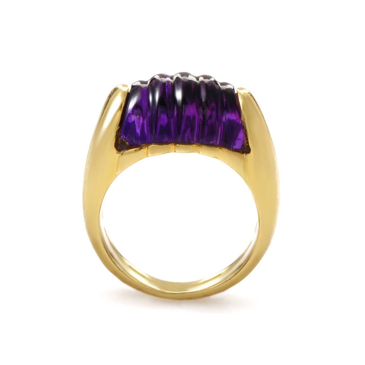 bulgari tronchetto amethyst gold band ring 2