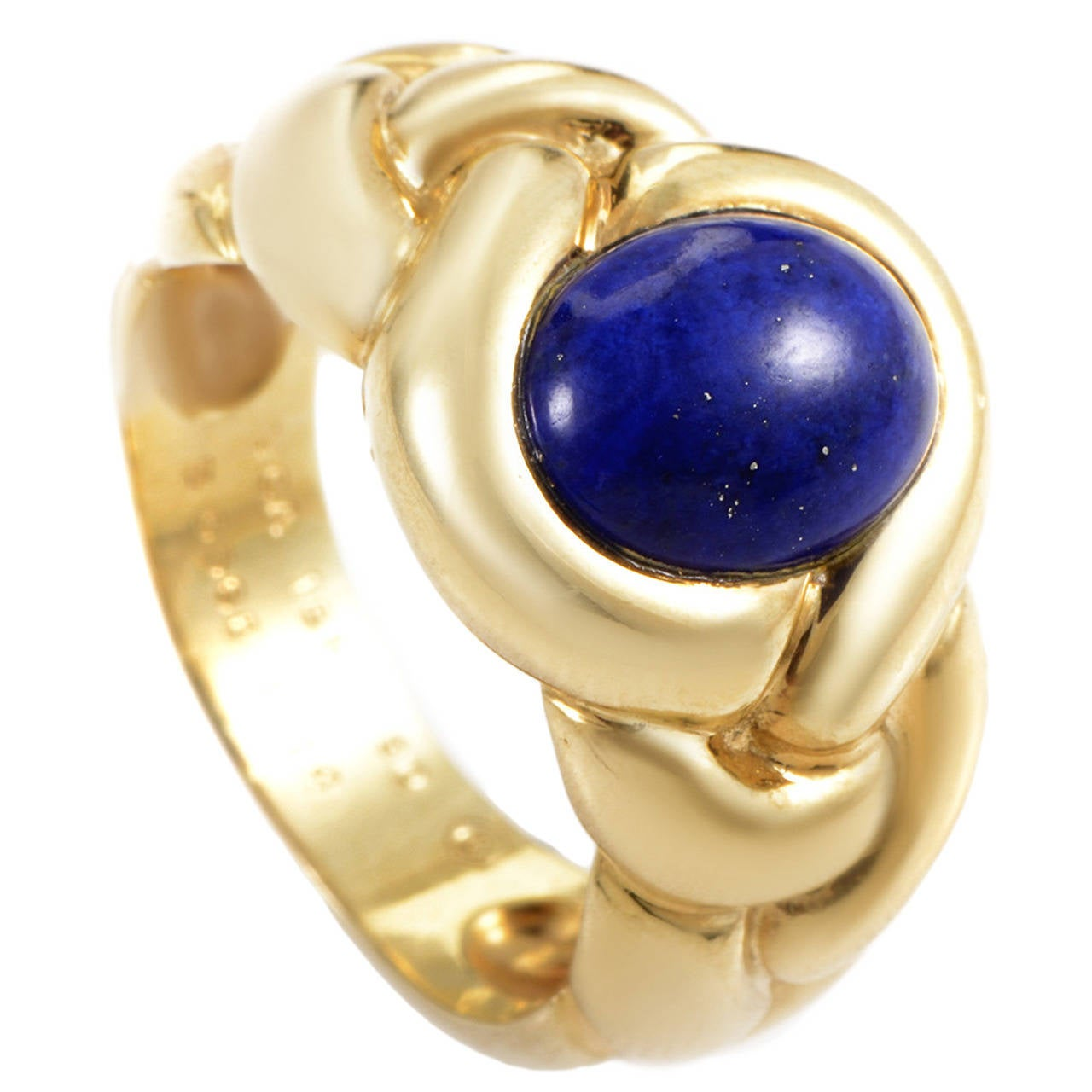 Van cleef amp arpels vca 18k yellow gold ruby cabochon amp diamond - Van Cleef Arpels Braided Lapis Gold Ring 1
