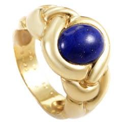 Van Cleef & Arpels Braided Lapis Gold Ring