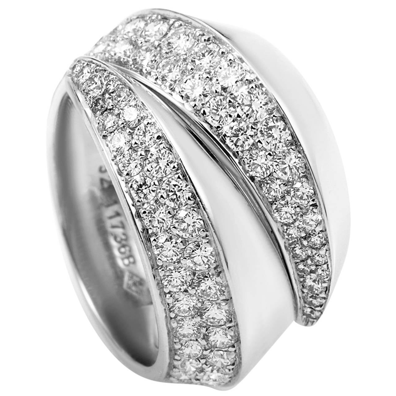 infinity her matching wedding for gold loop ring bands half eternity diamond pave white