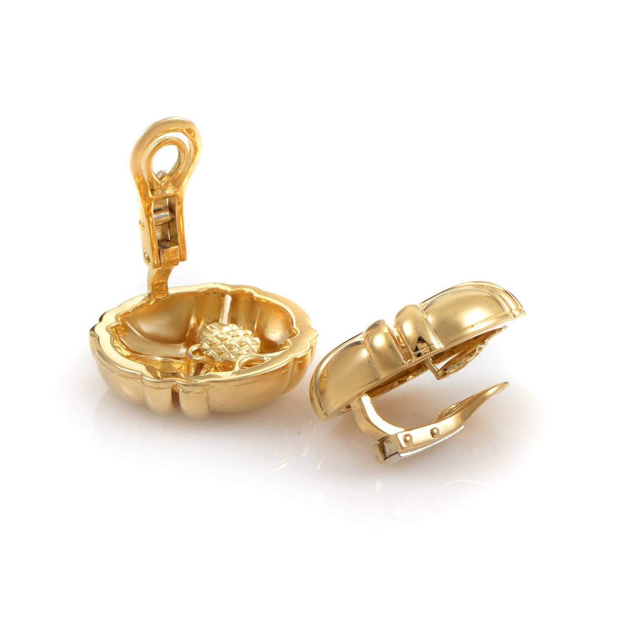 boucheron gold clip on earrings at 1stdibs